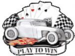 Play to Win, Cards, Hot rod Belt Buckle with display stand. Code AL4